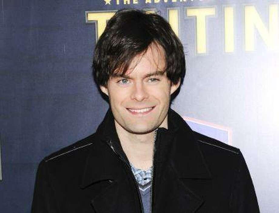 "FILE - This Dec. 11, 2011 file photo shows actor Bill Hader attends the premiere of ""The Adventures of Tintin"" in New York. Hader is leaving ""Saturday Night Live"" after an eight-year run. His spokesman confirms the 34-year-old comedian will depart ""SNL"" after this weekend's season finale. (AP Photo/Evan Agostini, file) Photo: AP / AGOEV"