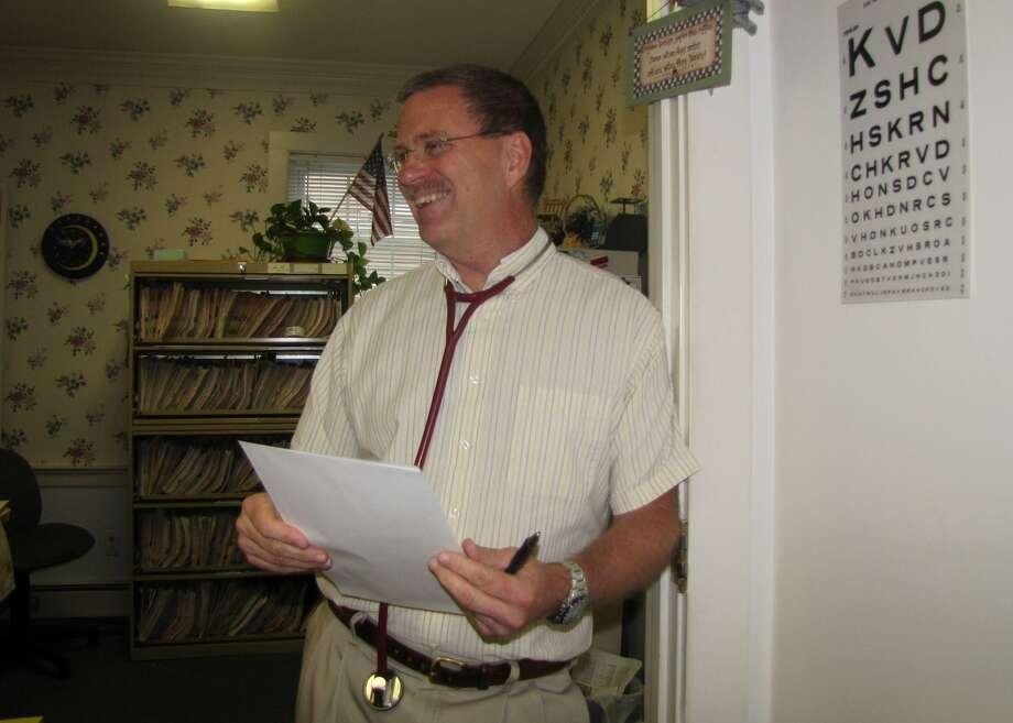Dr. Douglas Gerard in his New Hartford office. Arielle Levin Baker - CTMirror.org