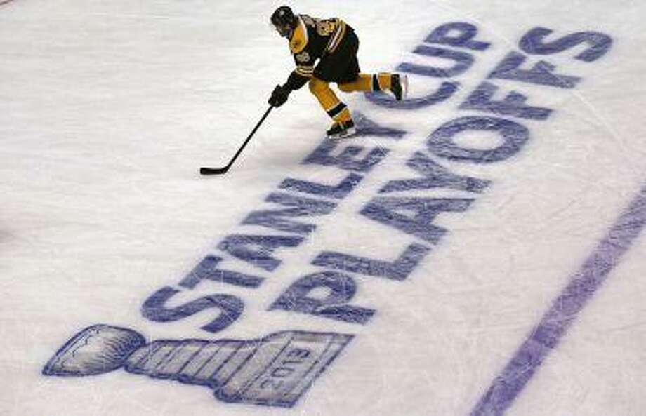 Boston Bruins right wing Jaromir Jagr skates during a warm up prior to facing the Toronto Maple Leafs in Game 7 of their NHL hockey Stanley Cup playoff series in Boston, Monday, May 13, 2013. Photo: AP / AP