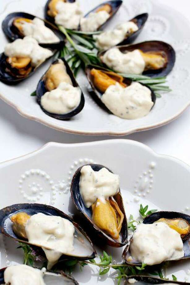 Mussels With Ravigote Sauce. July 1, 2013. (Photo for The Washington Post by Deb Lindsey)