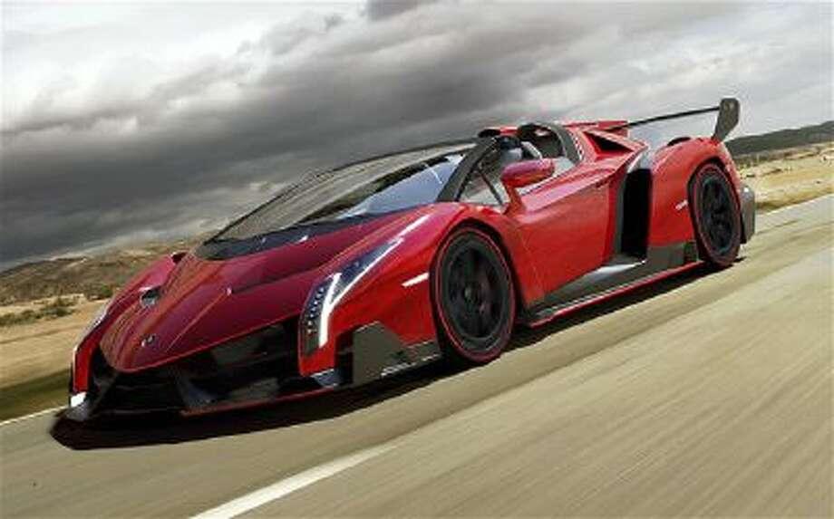 Lamborghini Veneno Roadster. The Veneno is priced at $4.5 million.
