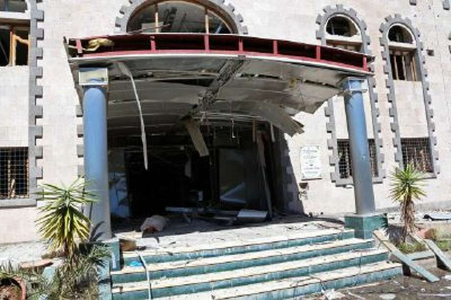 This Thursday, Dec. 5, 2013 file photo provided by Yemen's Defense Ministry shows heavy damage after an explosion at the Defense Ministry complex in Sanaa, Yemen.