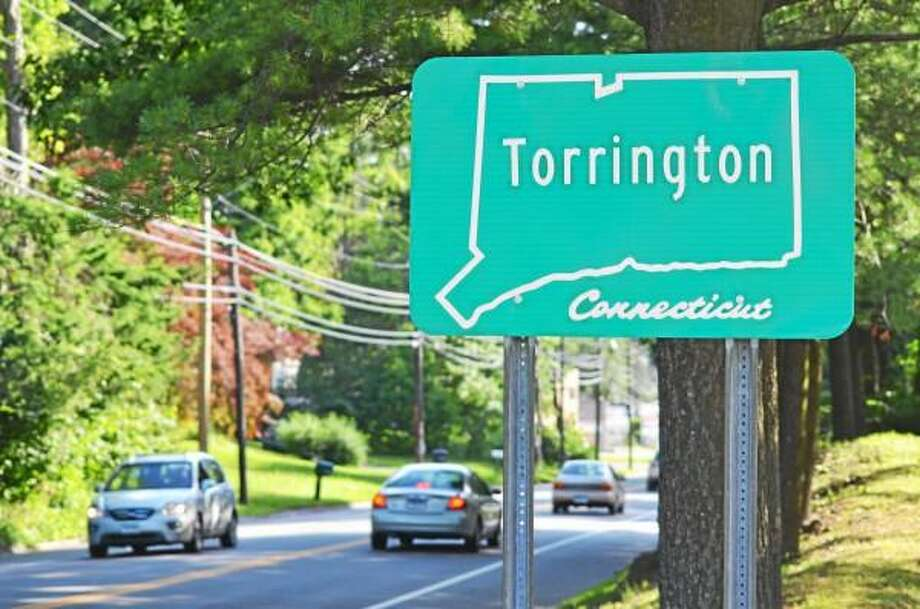 One of the current signs welcoming motorists into Torrington as seen on Winsted Road Friday, July 3. (Tom Caprood-Register Citizen)