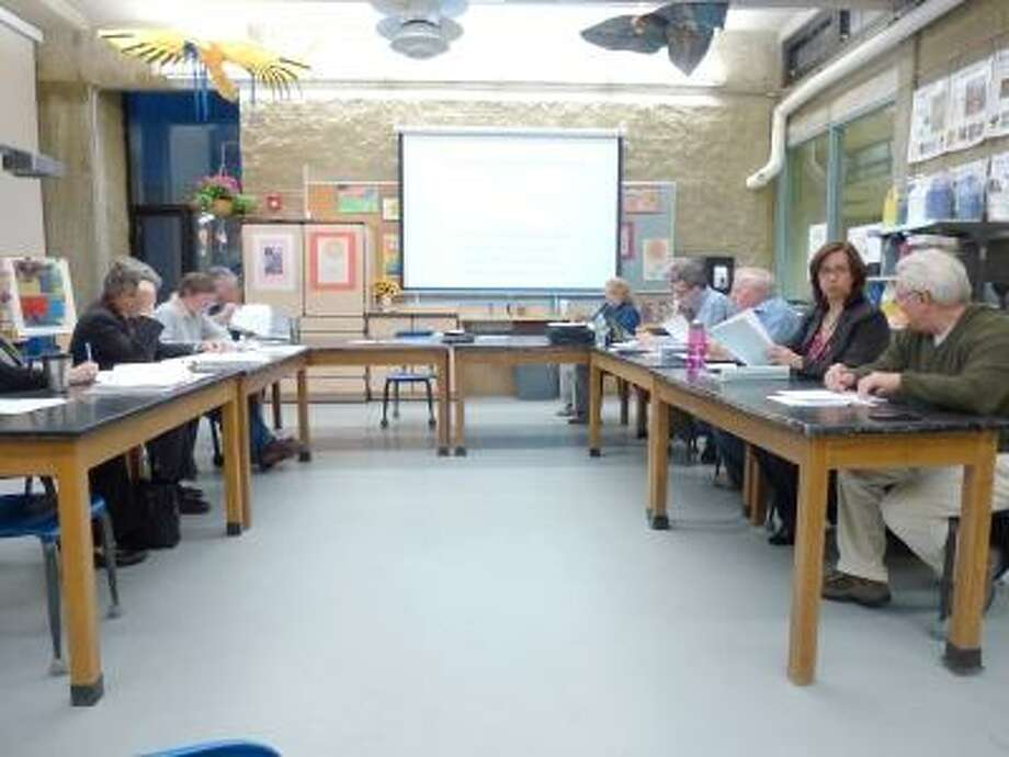 Photo by Ryan Flynn / The Register Citizen ---- The Litchfield Board of Education presented its $16 million 2012-2013 budget to the Board of Finance on Monday night.