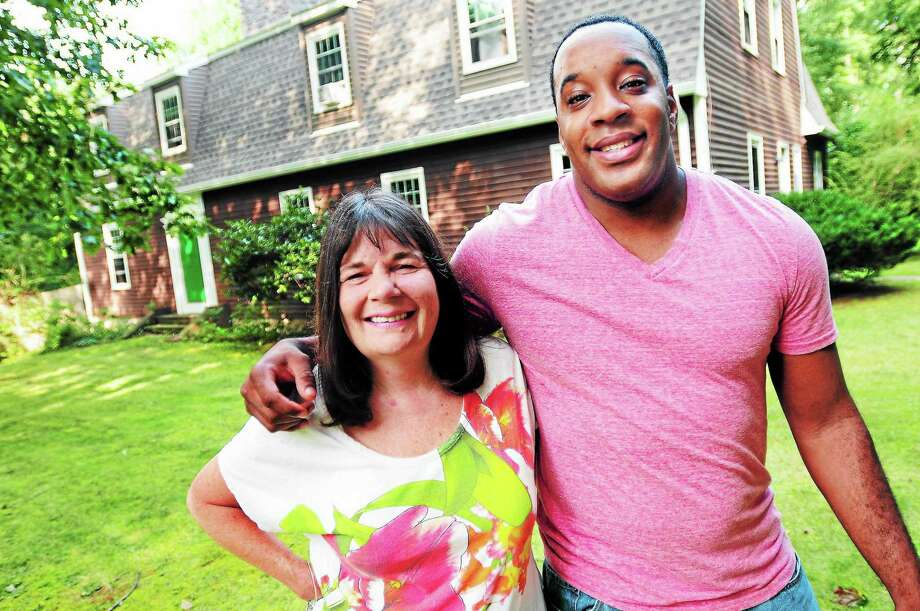 Abigail Slen and her son, Jermal Muhammed, are photographed at their home in Hamden. Photo: Arnold Gold — New Haven Register