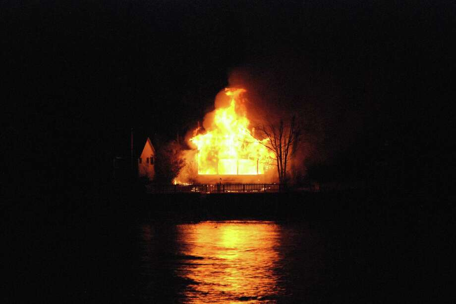 Fire on Great Harbor Road. Photo submitted by David A. Hafler. Photo: Journal Register Co.