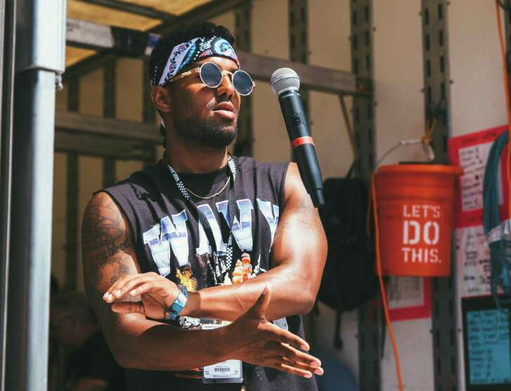 Rapper Futuristic, known for his fast, braggadocios rap style, is hoping to expand his fan base on the Warped Tour.