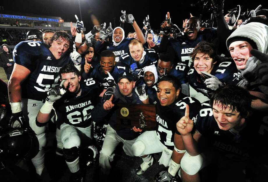 Inclement weather is not the biggest problem facing the CIAC state football playoffs, at least according to Register sports columnist Chip Malafronte. The larger issue is the competitiveness of the games. Ansonia defeated Woodland 51-12 to take the Class S title, St. Joseph won Class M over Brookfield by a 38-point margin and New Canaan cruised past Darien by 32. The only final margin not in the 30s was Southington's win over Fairfield Prep, a 52-34 nail-biter. Photo: Mara Lavitt — Register   / Mara Lavitt
