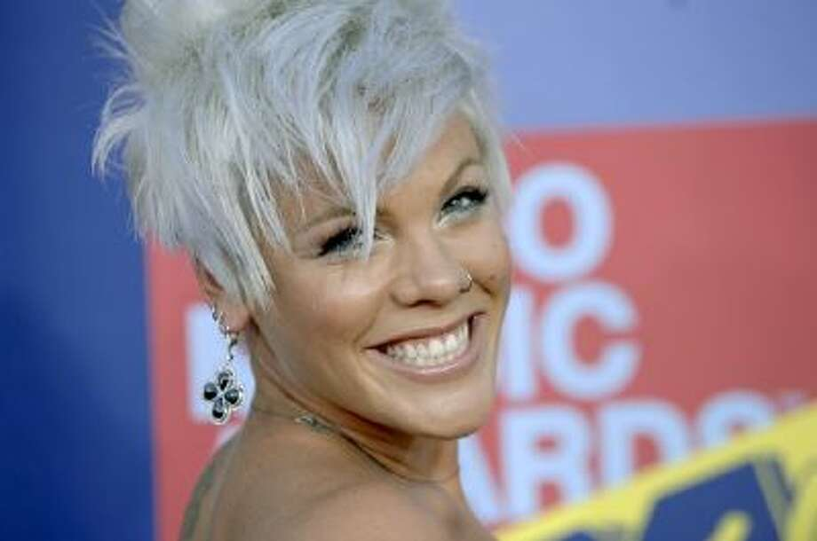 Singer Pink arrives at the MTV Video Music Awards held at Paramount Pictures Studio Lot Sept. 7, 2008, in Los Angeles.