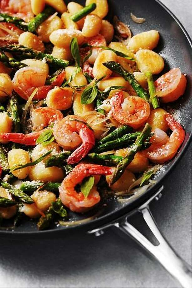 Peter Ardito -- EatingWell photo: Skillet Gnocchi With Shrimp and Asparagus Photo: Peter Ardito/EatingWell