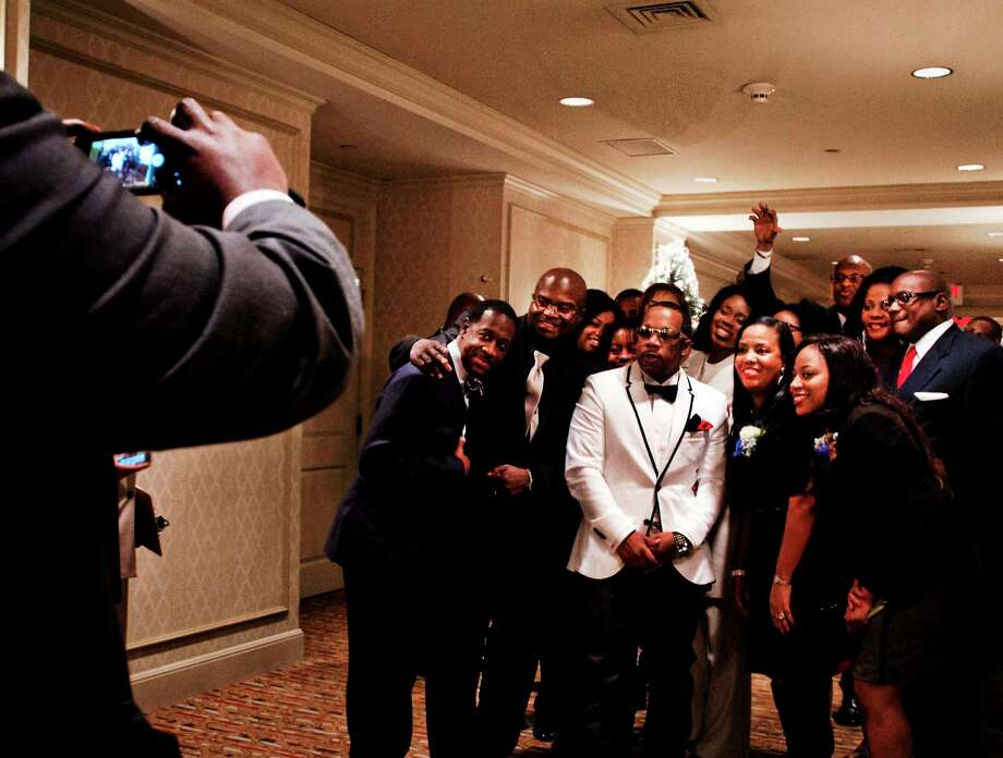 Some of the honorees at the NAACP state convention pose for pictures before official ceremonies at the Omni-New Haven Hotel at Yale Saturday. The event also honored the 100 Most Influential Blacks in Connecticut. Photo: Melanie Stengel — New Haven Register