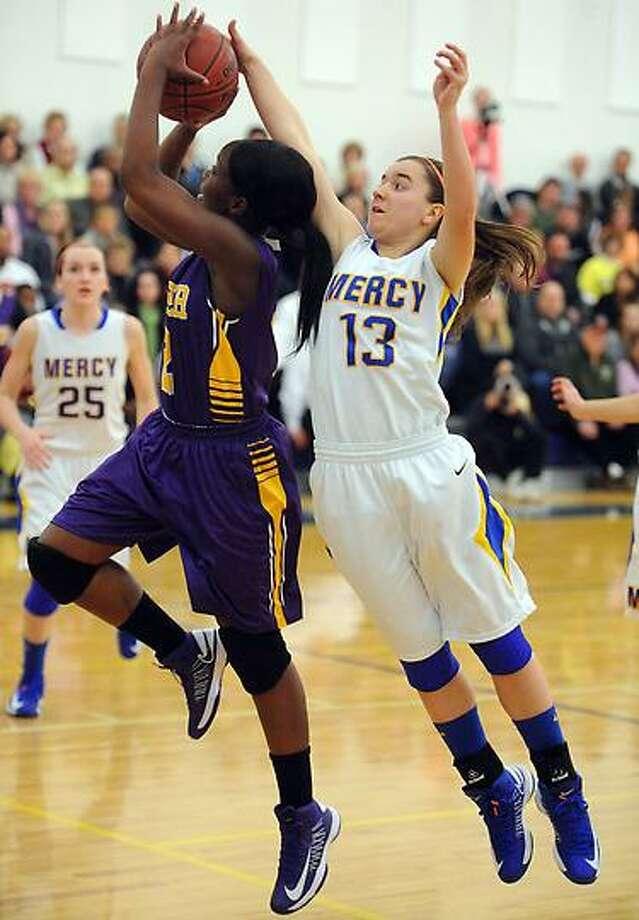 Career at Mercy, girls basketball.  Mara Lavitt/New Haven Register1/9/13