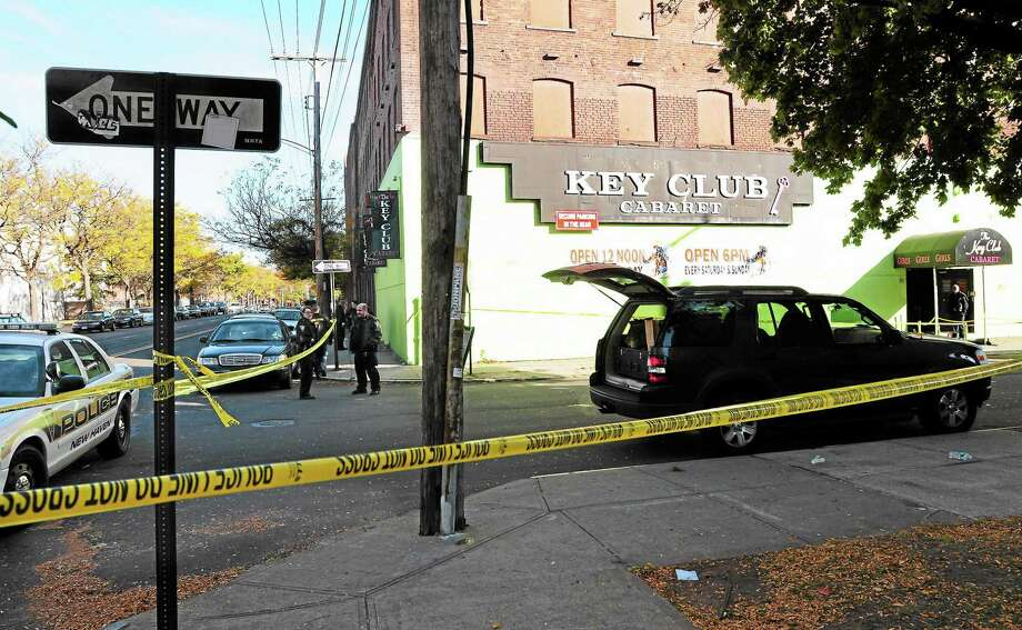 New Haven Police in October investigate at the Key Club Cabaret on Saint John Street in New Haven following a shooting at the club. Photo: Peter Hvizdak — NEW HAVEN Register         / ©Peter Hvizdak /  New Haven Register