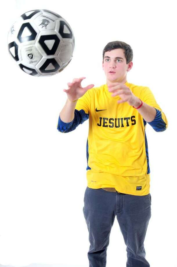 Madison resident William Steiner of Fairfield Prep is the 2012 NH Register Boys' Soccer Area MVP. Photo by Arnold Gold/New Haven Register.