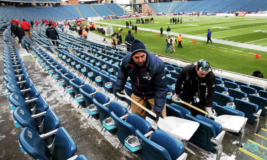 If this year's Super Bowl in New York is a success, other cold-weather cities like Foxborough, Mass., could be in the running for future games. Photo: Matt Slocum — The Associated Press   / AP2012