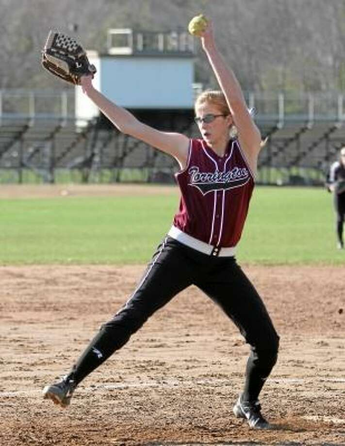 Photo by Marianne Killackey/Special to Register Citizen Torrington's Sydney Matzko pitches in a game earlier this season. / 2013