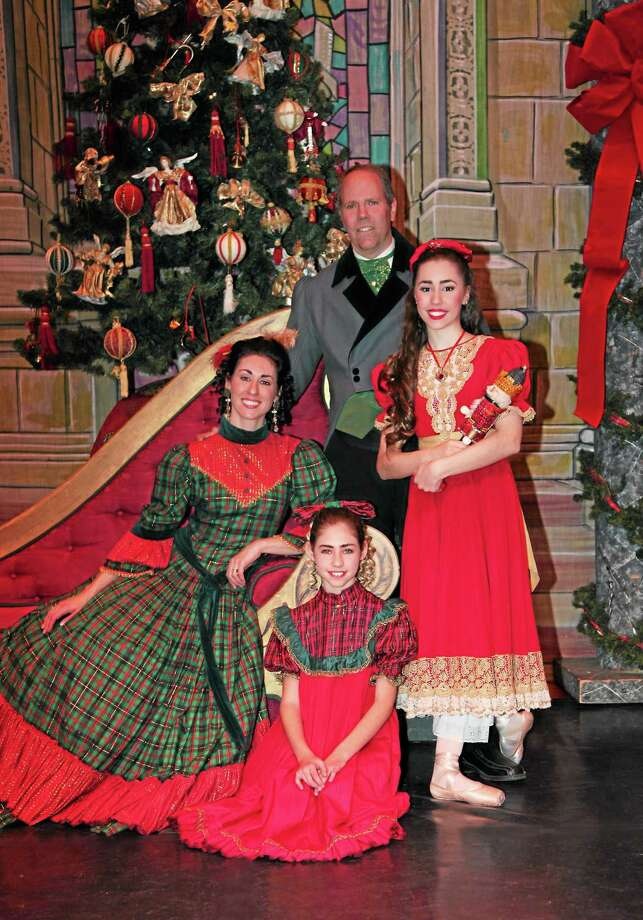 "The Frechette family of New Haven figures prominently in New England Ballet Company's ""The Nutcracker"" at the Klein Auditorium in Bridgeport this weekend. Photo: Contributed Photo"
