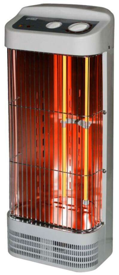 This photo provided by the U.S. Consumer Product Safety Commission shows the Optimus Tower Quartz Heater that is being recalled due to overheating and fire hazards. (AP Photo) Photo: AP / U.S. Consumer Product Safety Com