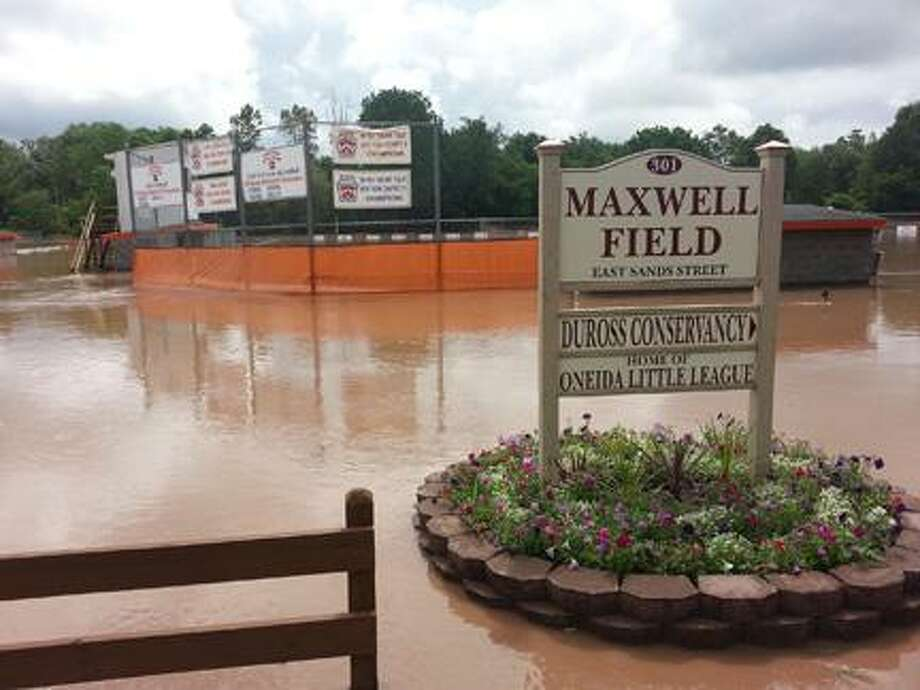 SUBMITTED PHOTO - ONEIDA LITTLE LEAGUE Maxwell Field in Oneida on Friday.