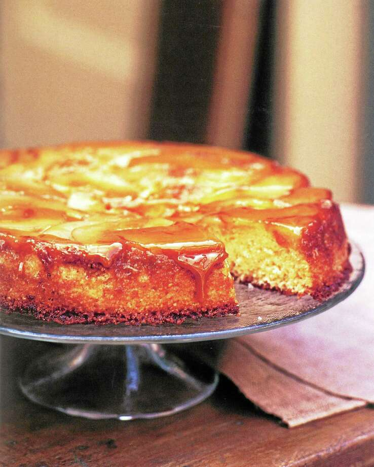 Caramelized Pear and Almond Upside-Down Cake. Photo: Diane Rossen Worthington