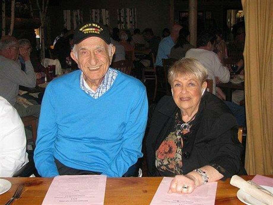 This May 2010 family photo provided by the Safferstein family shows Nathan Safferstein and his wife, Bernice Safferstein in New York. Nathan Safferstein, a native of Bridgeport, Conn., who was a counterintelligence agent on the Manhattan Project during World War II, died Tuesday night, March 5, 2013 at his home in the Bronx borough of New York after a long illness. He was 92. (AP Photo/Michael Safferstein) Photo: AP / SAFFERSTEIN FAMILY