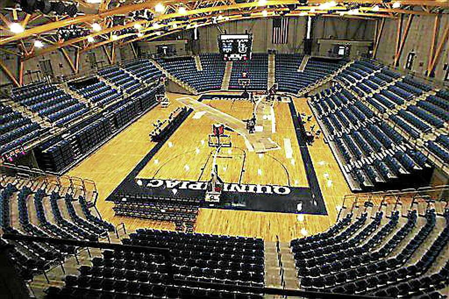 An overhead view of Quinnipiac's TD Bank Sports Center. Photo: Bob Child — The Associated Press   / AP2007