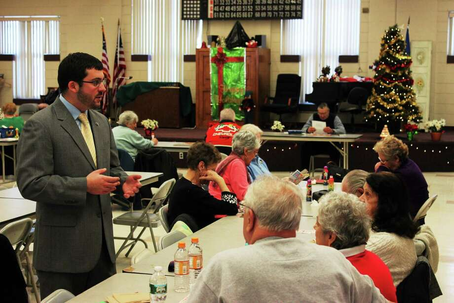 State Rep. James Albis (D- East Haven) mingles with members of the East Haven Senior Center. Contributed photo Photo: Journal Register Co. / State of Connecticut/House Democrats