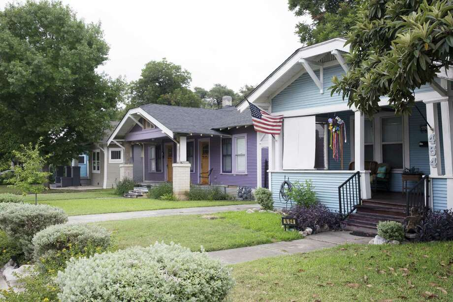 The Conservation Society recently supported the designation of the East French Place Historic District. The 33 bungalow-style homes that line East French Place were built in 1922 within a 60-day period by over 600 men. H.C. Thorman, a prominant local developer in San Antonio, supervised the development. Thorman was also known for his development of homes in the Park Hill Estates and Olmos Park estates. Photo: Tomas Gonzalez /For The Express-News / Tomas Gonzalez
