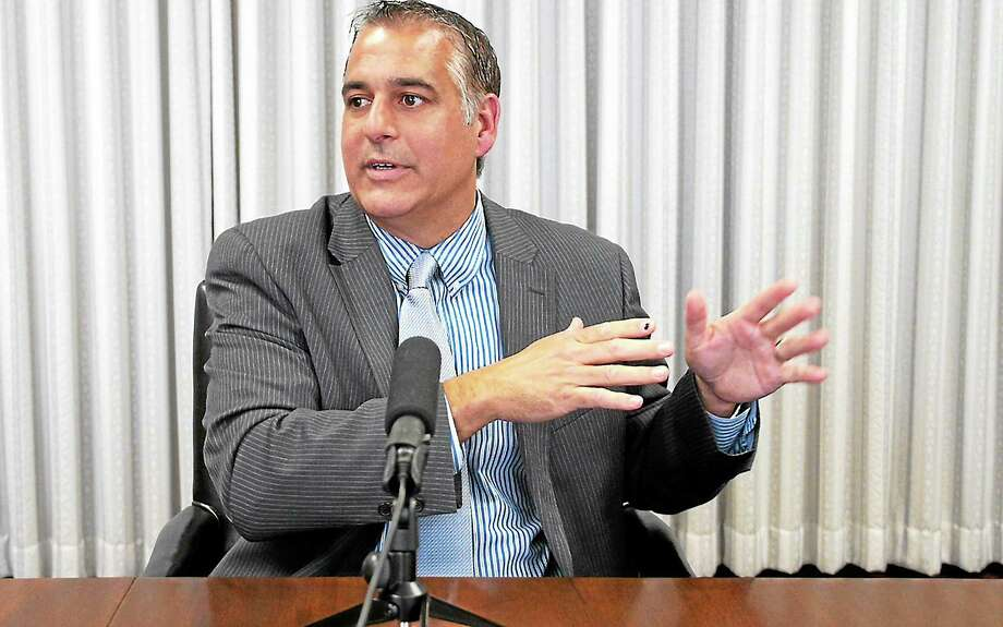 vmWilliams — New Haven RegisterJohn Picard meeting with the New Haven Register editorial board October 15, 2013. Photo: Journal Register Co.