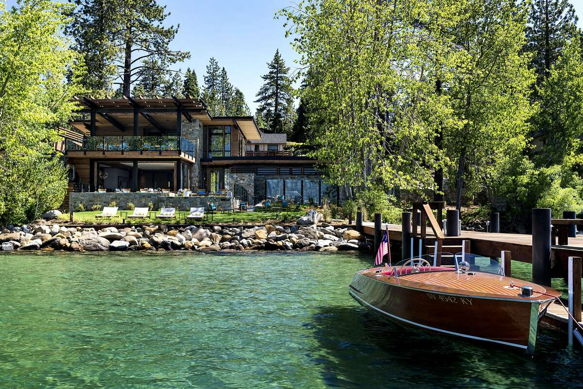 The private pier at the new Lake Club of the Ritz-Carlton, Lake Tahoe, offers a shuttle boat to watercraft rentals.