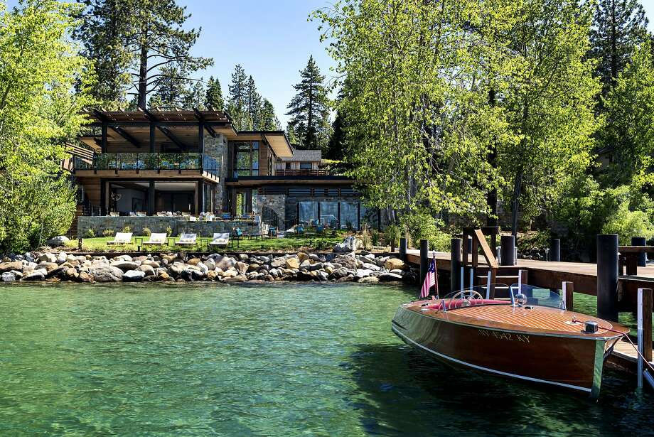 The private pier at the new Lake Club of the Ritz-Carlton, Lake Tahoe, offers a shuttle boat to watercraft rentals. Photo: Ritz-Carlton, Lake Tahoe