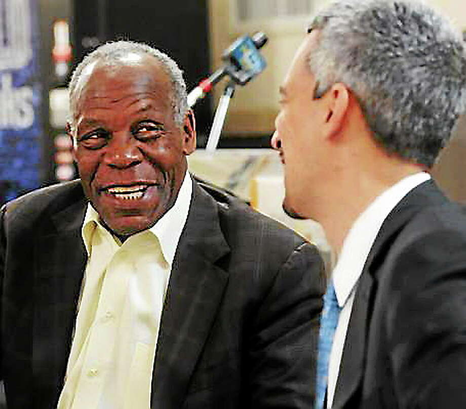 Beulah Heights Pentecostal Church, New Haven: The actor and producer Danny Glover travelled from his SanFrancisco home to stump for Henry Fernandez, right, New Haven mayoral candidate. Mara Lavitt/New Haven Register mlavitt@newhavenregister.com5/23/13 Photo: Journal Register Co.