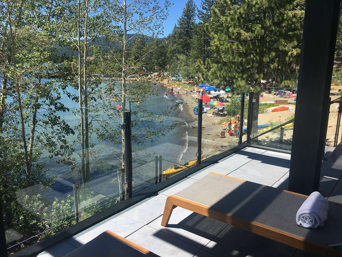 The new Lake Club of the Ritz-Carlton, Lake Tahoe, offers a private spot to relax next to the public Tahoe Vista Recreation Area.