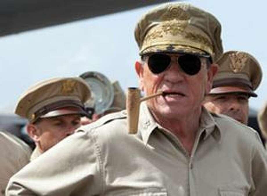 "Contributed photo: Tommy Lee Jones makes an impressive Gen. Douglas MacArthur in ""Emperor."""
