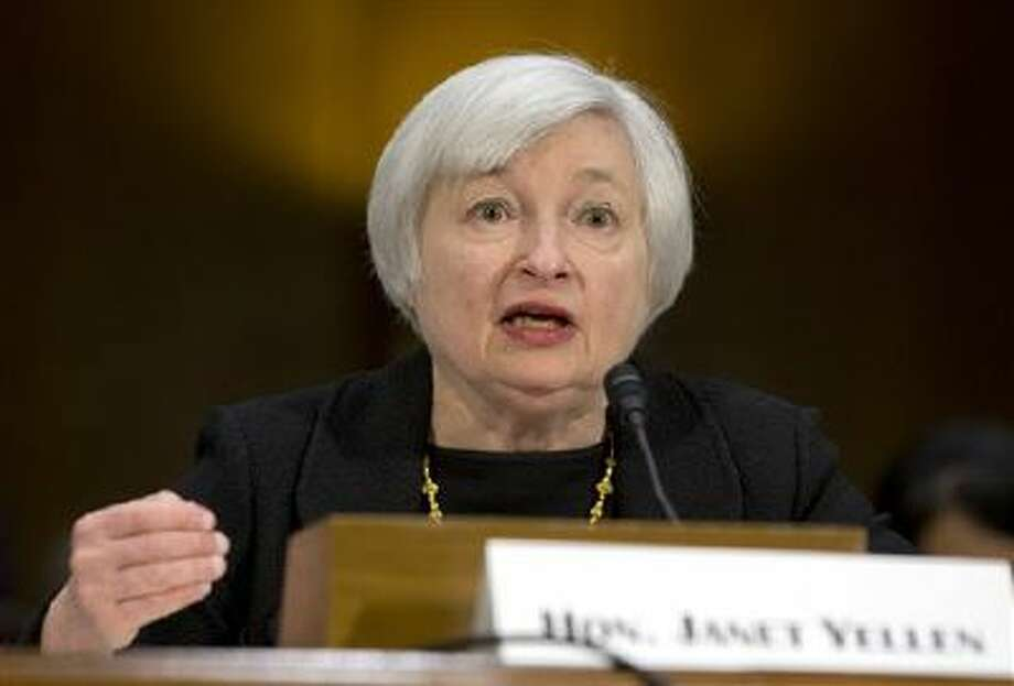 Federal Reserve Board Chair nominee Janet Yellen testifies during her nomination on Capitol Hill in Washington. Photo: AP / AP