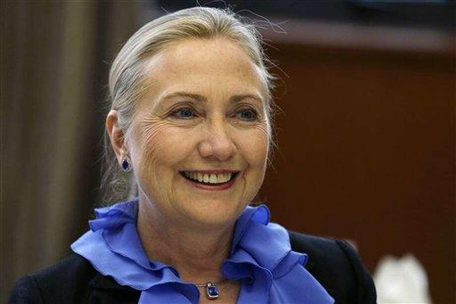 U.S. Secretary of State Hillary Rodham Clinton. Associated Press file photo Photo: AP / POOL AP