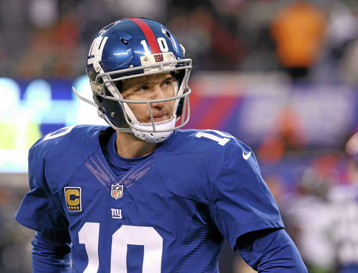 Giants quarterback Eli Manning looks on during the second half of New York's 23-0 loss to the Seattle Seahawks on Sunday in East Rutherford, N.J.