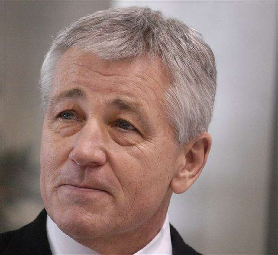 This December 2008 file photo shows then-Nebraska Sen. Chuck Hagel in Omaha, Neb. Associated Press Photo: AP / FR67562 AP