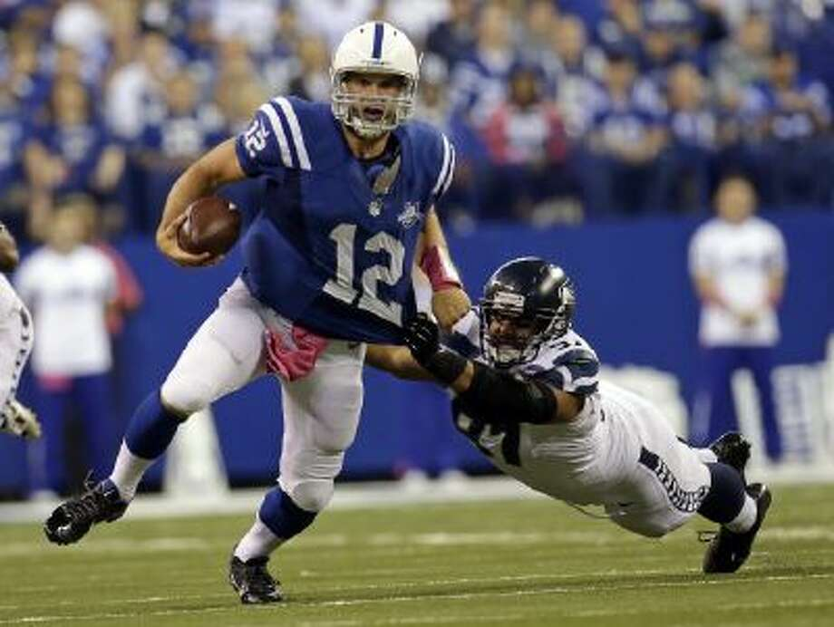 Colts quarterback Andrew Luck has draw attention to himself recently for appearing to flop on hits.