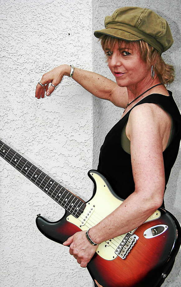 Debbie Davies drops by Blues, Views & BBQ in Westport on Sunday. Photo: Contributed