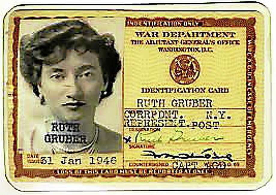 Ruth Gruber's government ID from 1944 (provided by Paula Smith-member of adult education committee at the Congregation Or Shalom) Photo: Journal Register Co.