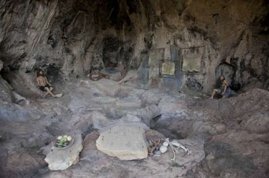 This stone age recycling site cave at the north of Israel is part of mounting evidence that hundreds of thousands of years ago, our prehistoric ancestors learned to recycle daily objects, say researchers gathered here for an international conference. Photo: AP / AP2013