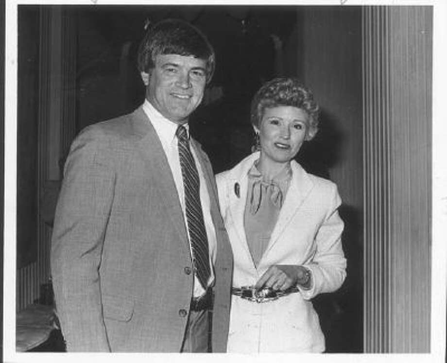 This photo was taken in 1982. Dan Reeves and his wife attended a party at the home of Marvin Davis. Reeves, head coach of the Denver Broncos, will be honored in May at a dinner given by the American Lung Association of Colorado.