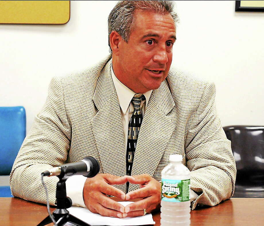 vm Williams — RegisterGary DePalma addresses the editorial board of the New Haven Register August 22, 2013 Photo: Journal Register Co.