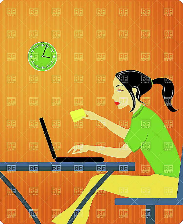 Online shopping with credit card on laptop Photo: Journal Register Co.