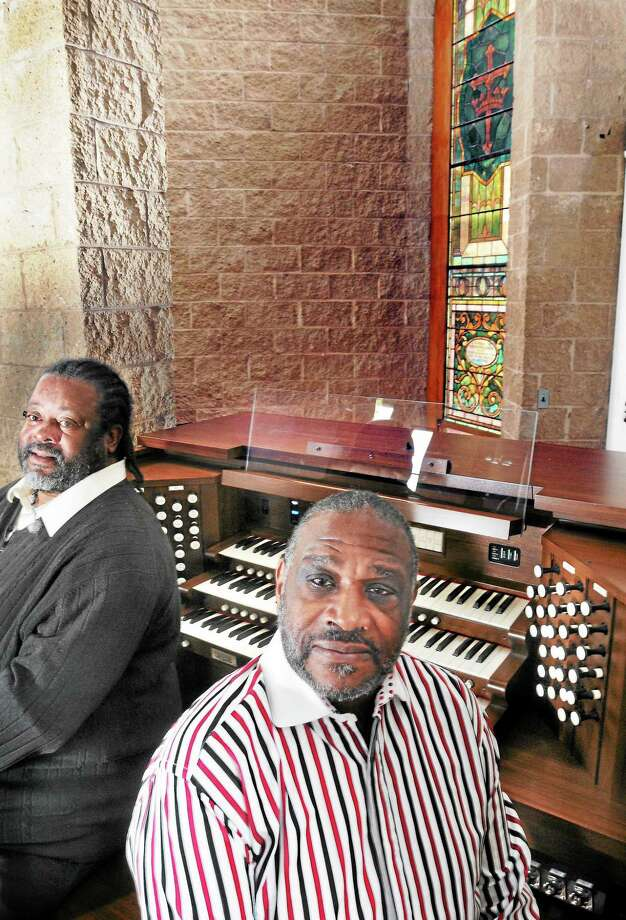 (Mara Lavitt — New Haven Register) October 11, 2013 New HavenDixwell Congregational United Church of Christ's Ronald Pollard, director of music and Charles Warner, co-chair of the music committee photographed with the church's digital organ. Photo: Journal Register Co. / Mara Lavitt