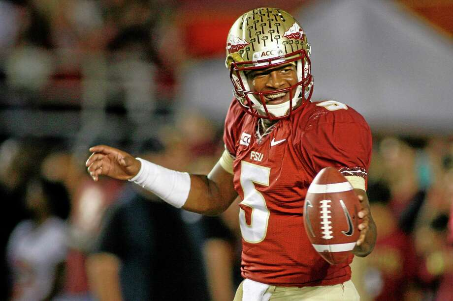 Florida State redshirt freshman quarterback Jameis Winston is the Walter Camp Football Foundation Player of the Year. Photo: Phil Sears — The Associated Press   / FR170567 AP