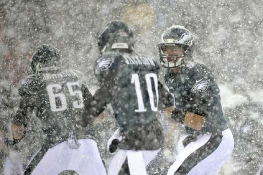 Nick Foles in the snow was the setting for his Sports Illustrated cover this week.