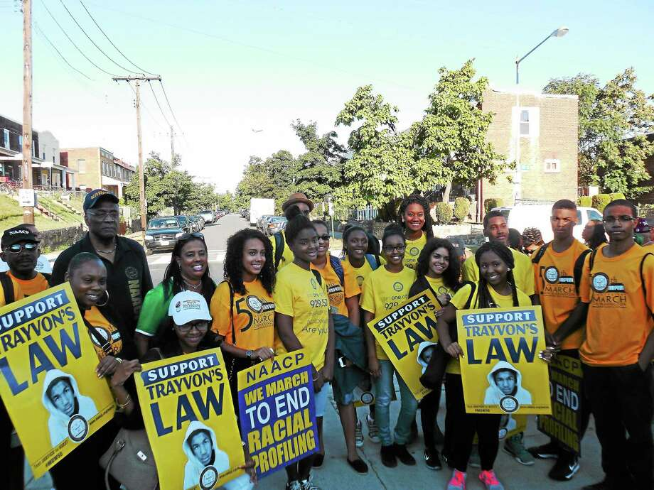 Greater New Haven Branch NAACP Youth Council members Photo: Shahid Abdul-Karim — Register