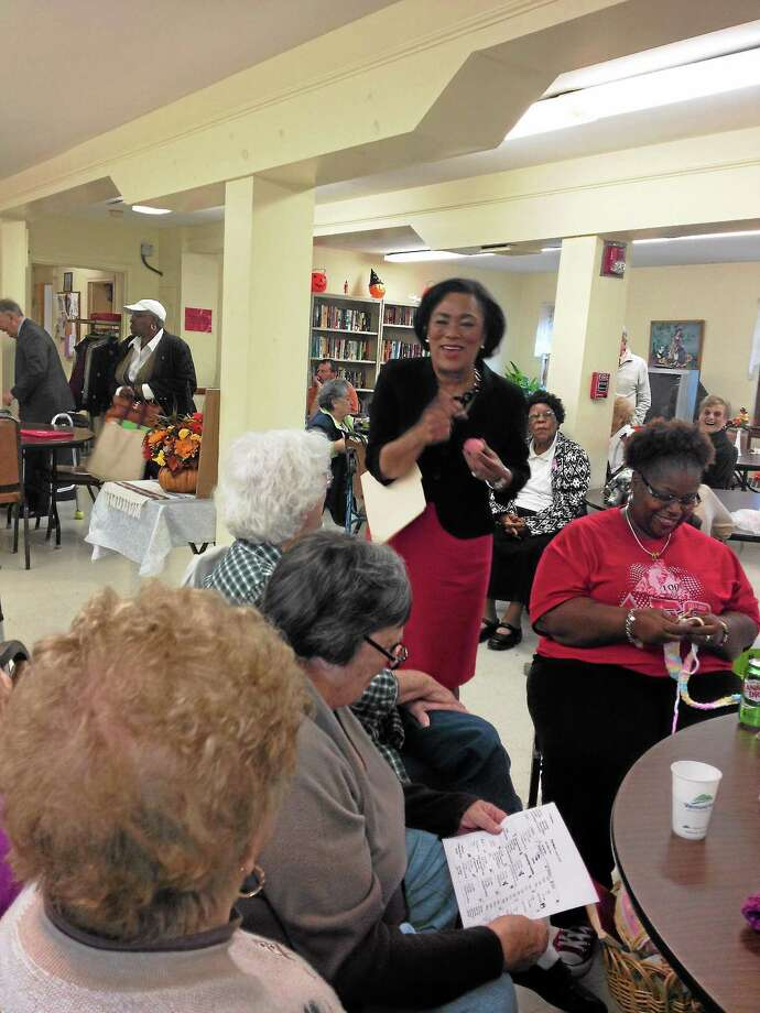 Mayoral candidate state Sen. Toni Harp at the East Shore Senior Center Photo by Mary O'Leary Photo: Journal Register Co.